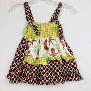 Toodles Girls Christmas Tree Holiday Dress Size 2